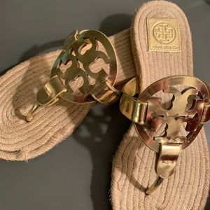 Tory Burch Metallic Espadrille Sandal